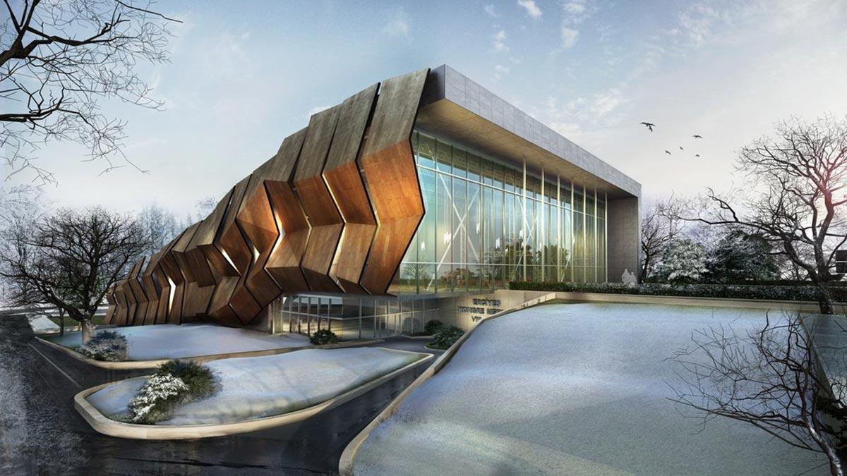 يقوم المهندسون المعماريون بتصميم منتجع خلاب