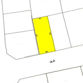 Land for sale located in Muqaba