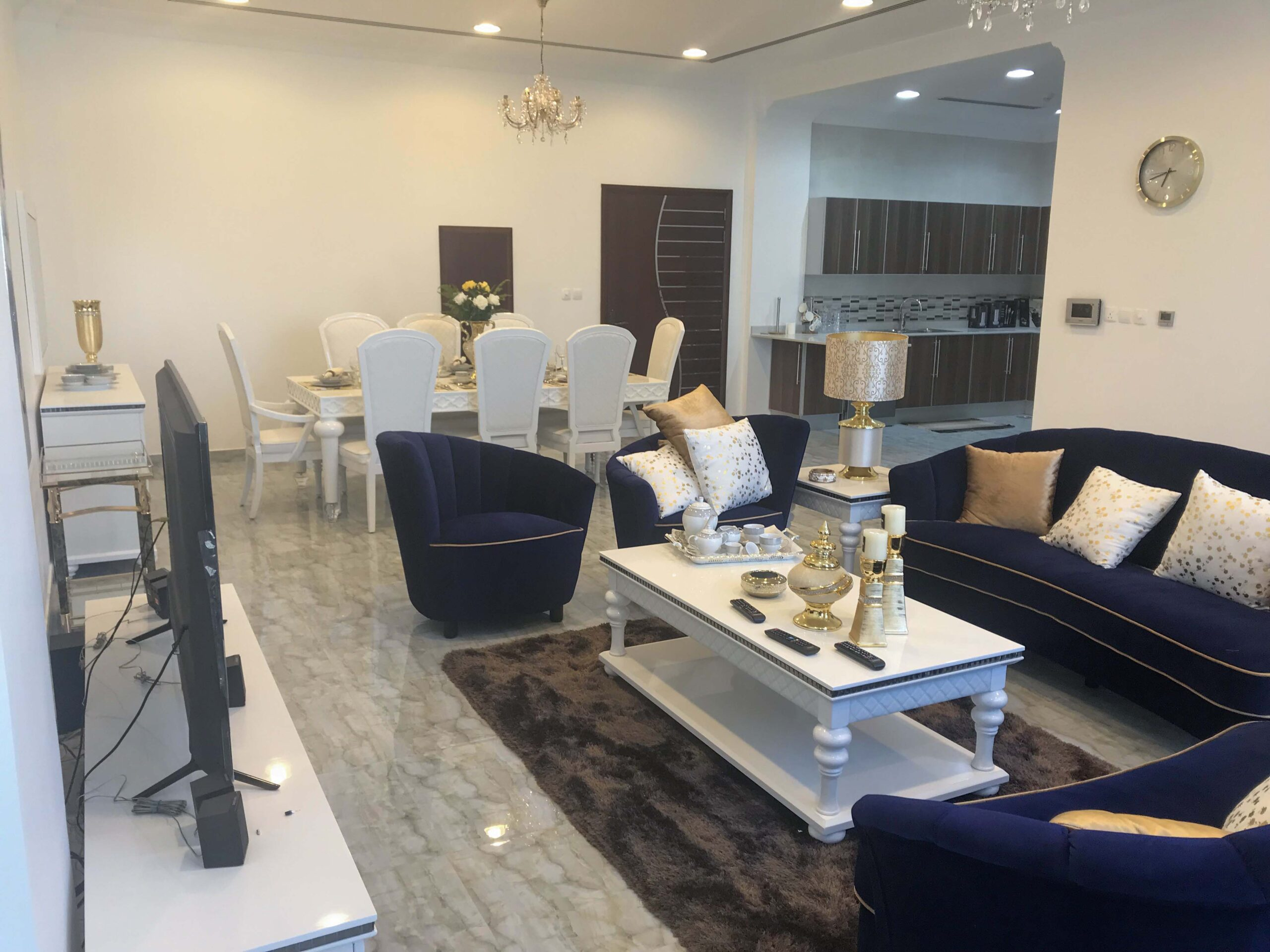 Two bedrooms flat for rent Simi furnished Area:  Seef