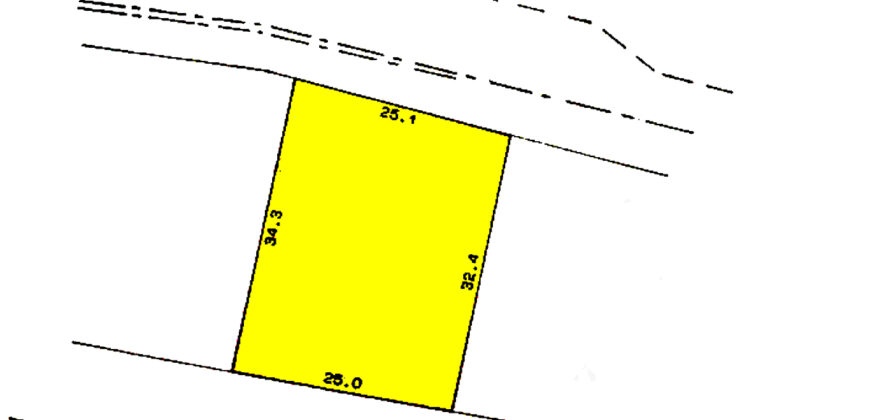 للبيع أرض سكنية بمنطقة السهلة الشمالية بمساحة 1092.40 متر مربع (الارض قابلة للتقسيم)