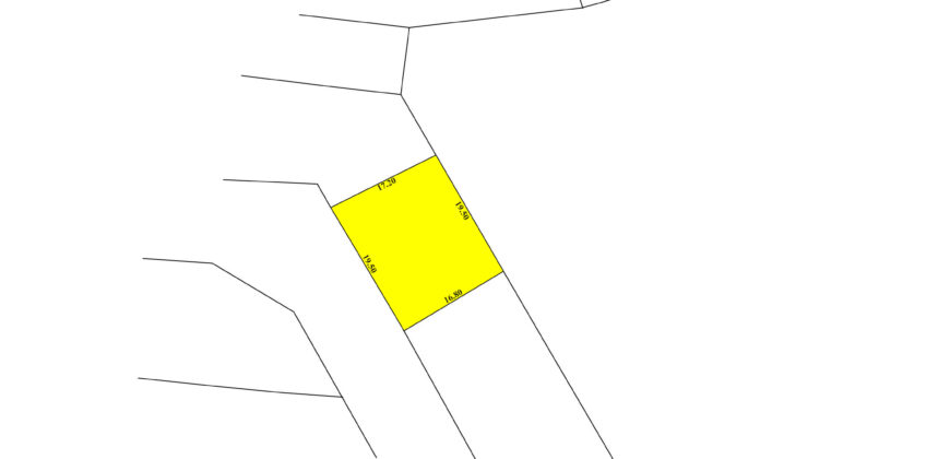 Land for sale RB located in Jid Ali, land size 343.00 SQM, offered for BD 92,000 /- (Price Negotiable)