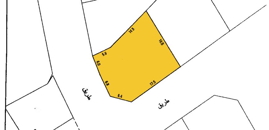 للبيع أرض سكني خاص ( أ ) بمنطقة كرزكان