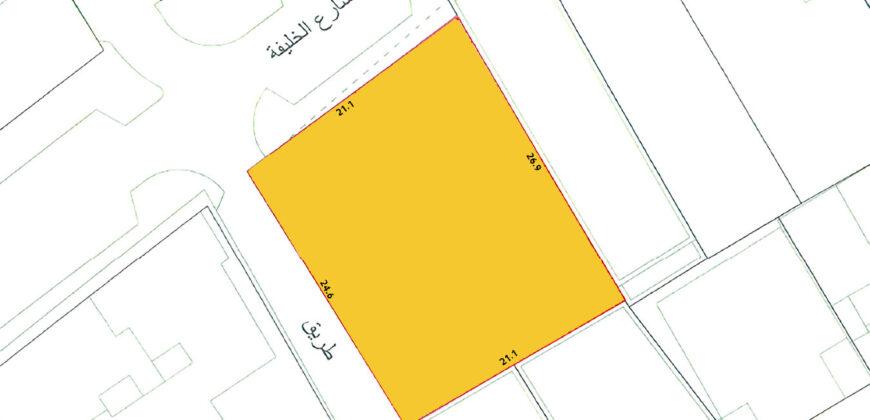 للبيع أرض تجارية بموقع إستراتيجي بمنطقة المنامة