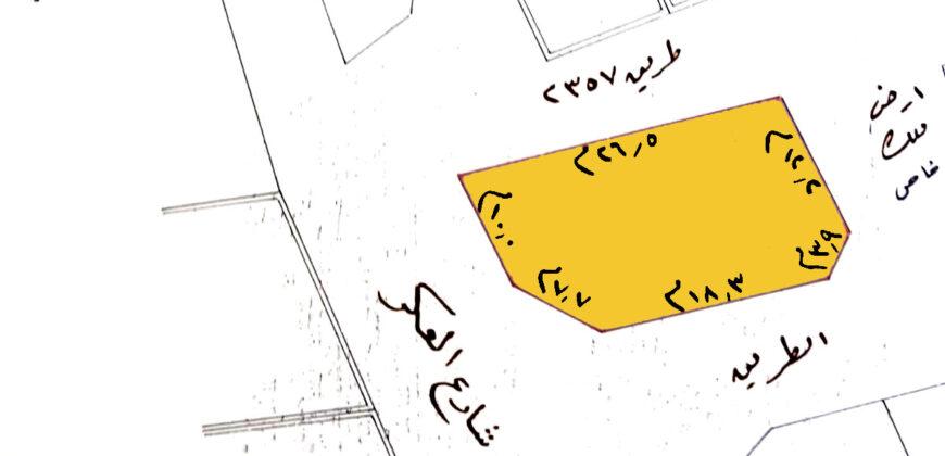 للبيع أرض سكنية بمنطقة العكر الشرقي