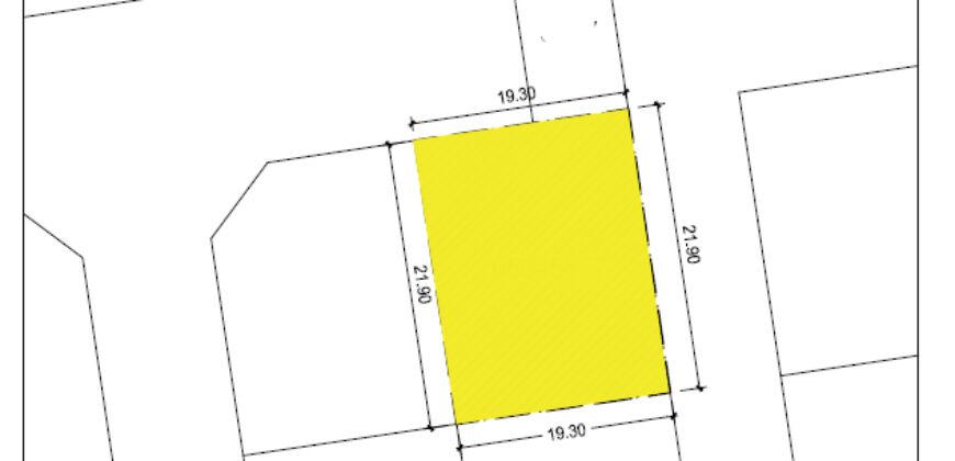 للبيع أرض سكني خاص ( ب ) بمنطقة مقابة ، مساحة الارض  424.95متر مربع، مطلوبة بقيمة -/114,352 دينار