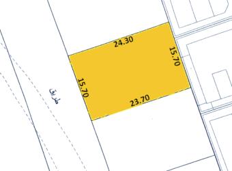 للبيع أرض سكني خاص ( أ ) بمنطقة الزنج، مساحة الارض   377.40متر مربع، مطلوبة بقيمة -/ 134,057 دينار وقابل للتفاوض