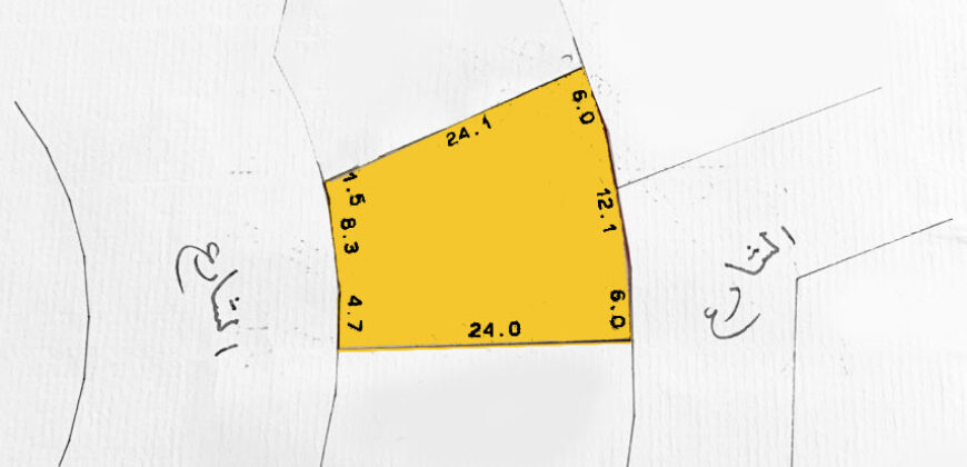 للبيع أرض سكنية بمنطقة أبو قوة (سرايا 2)