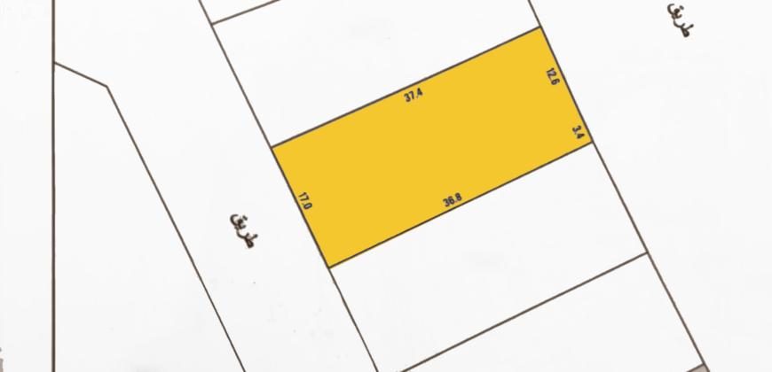 للبيع أرض إستثمارية B3 بمنطقة  سلماباد شارعين أمامي خلفي