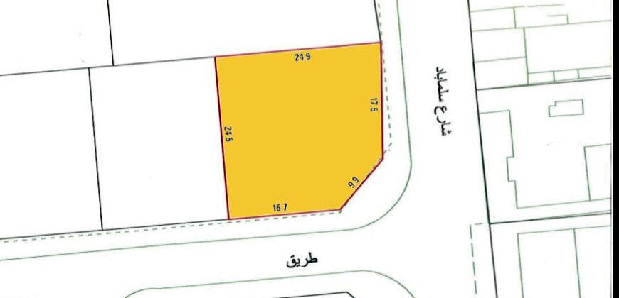 للبيع أرض إستثمارية تجارية مصنفة B3* بمنطقة  سلماباد